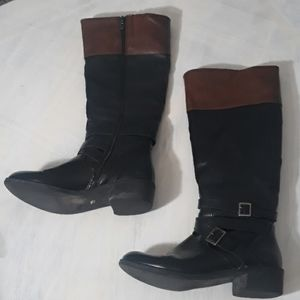 Shoes - Two tone rider boots size 8